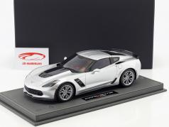 Chevrolet Corvette C7 Z06 year 2015 silver shark with Showcase 1:18 BBR