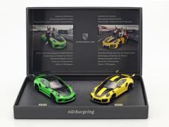 Porsche 2-Car Set 911 GT3 RS & 911 GT2 RS giro record Nürburgring Nordschleife 1:43 Minichamps