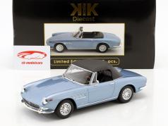 Ferrari 275 GTS Pininfarina Spyder com jantes de liga leve ano de construção 1964 azul claro metálico 1:18 KK-Scale
