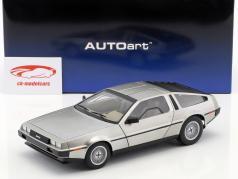 DeLorean DMC-12 ano de construção 1981 aborrecido prata 1:18 AUTOart