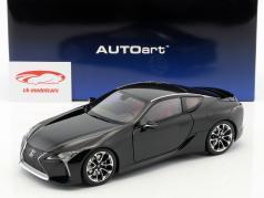 Lexus LC 500 año de construcción 2017 negro 1:18 AUTOart