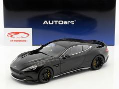 Aston Martin Vanquish S ano de construção 2017 onyx preto 1:18 AUTOart