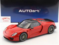Porsche 918 Spyder Weissach package year 2013 guards red 1:12 AUTOart