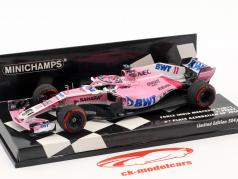 Sergio Perez Force India VJM11 #11 3 ° Azerbaijan GP formula 1 2018 1:43 Minichamps