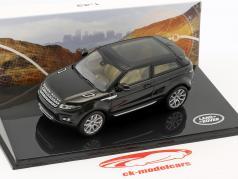Land Rover Range Rover Evoque Bouwjaar 2011 santorini zwart 1:43 Ixo