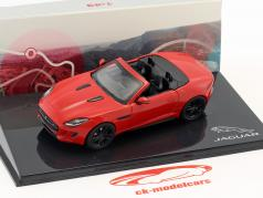 Jaguar F-Type V8-S Cabriolet year 2013 salsa red 1:43 Ixo