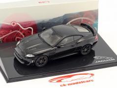 Jaguar XKR-S año de construcción 2011 último negro 1:43 Ixo