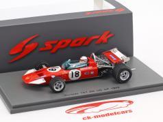 Derek Bell Surtees TS7 #18 6e US GP formule 1 1970 1:43 Spark