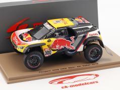 Peugeot 3008 DKR Maxi #300 4. Rallye Dakar 2018 Peterhansel, Cottret 1:43 Spark