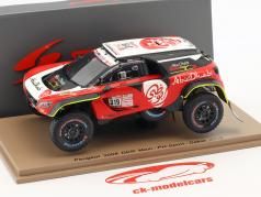 Peugeot 3008 DKR Maxi #319 6th Rallye Dakar 2018 Al Qassimi, Panseri 1:43 Spark