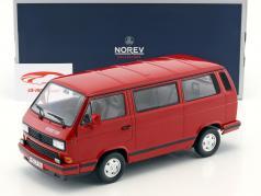 Volkswagen VW T3 Bus Red Star Bouwjaar 1992 rood 1:18 Norev
