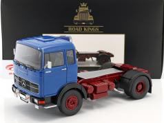Mercedes-Benz LPS 1632 Sattelzugmaschine Baujahr 1969 blau / dunkelrot 1:18 Road Kings