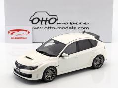 Subaru Impreza STI R205 Bouwjaar 2010 parel wit 1:18 OttOmobile