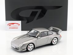 Porsche 911 (993) RS Clubsport Bouwjaar 1995 arctisch zilver 1:18 GT-Spirit