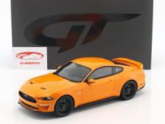 Ford Mustang GT coupe anno di costruzione 2019 fury arancione 1:18 GT-Spirit