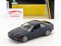 BMW 850i E31 año de construcción 1989 - 1992 azul oscuro metálico 1:24 Schabak