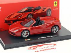 Ferrari 488 Spider ano de construção 2015 vermelho 1:43 Bburago