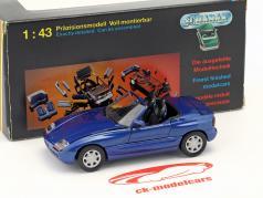 BMW Z1 E30 (Z) Roadster ano de construção 1989 azul escuro metálico 1:43 Schabak
