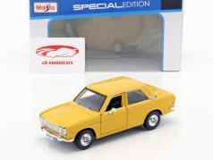 Datsun 510 ano de construção 1971 amarelo 1:24 Maisto