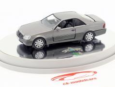 Mercedes-Benz 600 SEC Coupe (C 140) año de construcción 1992 – 1993 plata metálico 1:43 Schabak