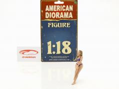 calendar girl juillet en bikini 1:18 American Diorama