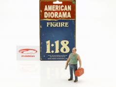mecánico Sam con caja de herramientas figura 1:18 American Diorama