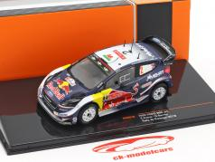 Ford Fiesta WRC #2 2e verzameling Portugal 2018 Evans, Barritt 1:43 Ixo