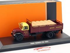 Ford Thames ET6 British Rail año de construcción 1953 oscuro rojo 1:43 Ixo