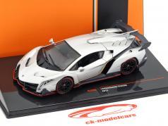 Lamborghini Veneno Bouwjaar 2013 zilver metalen 1:43 Ixo