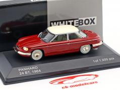 Panhard 24 BT year 1964 red / cream white 1:43 WhiteBox