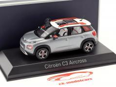 Citroën C3 Aircross Opførselsår 2017 grå / hvid / rød 1:43 Norev