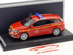 Renault Megane Estate Pompiers Baujahr 2016 rot / gelb 1:43 Norev