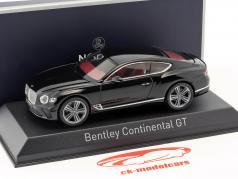 Bentley Continental GT ano de construção 2018 beluga preto 1:43 Norev