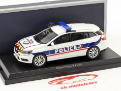 Renault Megane Estate Police Nationale year 2016 white / blue / yellow / red 1:43 Norev