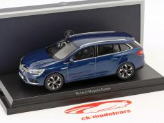 Renault Megane Estate Baujahr 2016 cosmos blau metallic 1:43 Norev