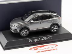 Peugeot 3008 GT Bouwjaar 2016 Platinium grijs metalen 1:43 Norev