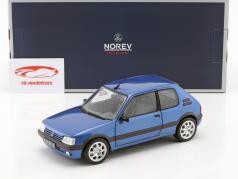 Peugeot 205 GTi 1.9 Bouwjaar 1992 miami blauw 1:18 Norev