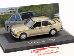 Mercedes-Benz 190 E 2.3-16V (W201) año de construcción 1984 oro metálico 1:43 Altaya