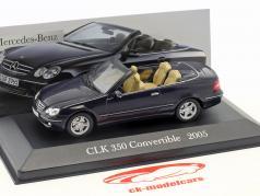 Cars Automotive Mercedes Benz 350 Slk R171 2004-11 Blue Blue 1:43 Ixo