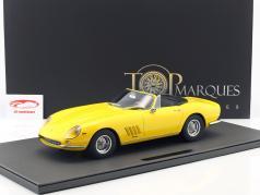 Ferrari 275 GTB/4 NART Spyder Opførselsår 1967 gul 1:12 TopMarques