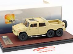 Hummer H2 SUT 6 année de construction 2012 beige 1:43 GLM