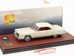 Cadillac Eldorado Convertible Closed Top year 1973 white 1:43 GLM