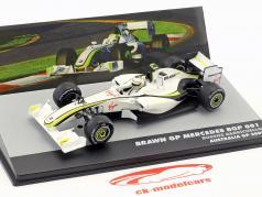 Rubens Barrichello Brawn BGP 001 #23 2e Australia GP formule 1 2009 1:43 Altaya