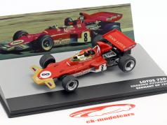 Emerson Fittipaldi Lotus 72D #8 Alemanha GP Fórmula 1 1971 1:43 Altaya