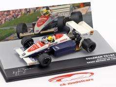 Ayrton Senna Toleman TG184 #19 3ª britânico GP fórmula 1 1984 1:43 Altaya