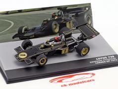 Emerson Fittipaldi Lotus 72E #1 2nd Canada GP formula 1 1973 1:43 Altaya
