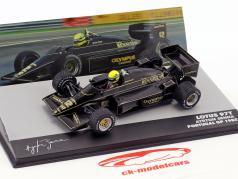 Ayrton Senna Lotus 97T #12 vencedor Portugal GP fórmula 1 1985 1:43 Altaya