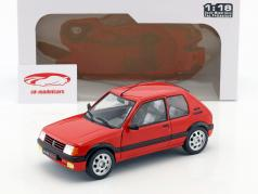 Peugeot 205 GTI MK1 year 1988 red 1:18 Solido