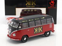 "Volkswagen VW Bulli T1 Samba ""Toy Fair Nürnberg 2019"" año 1962 rojo / negro 1:18 KK-Scale"