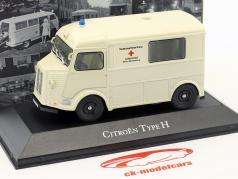 Citroen type H ambulance allemand rouge croix année de construction 1965 blanc 1:43 Atlas